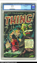 Golden Age (1938-1955):Horror, The Thing! #4 Bethlehem pedigree (Charlton, 1952) CGC VF+ 8.5Off-white pages. This bizarre Al Fago cover features a Zombie ...