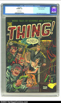 Golden Age (1938-1955):Horror, The Thing! #8 White Mountain pedigree (Charlton, 1953) CGC VF/NM 9.0 Off-white pages. Charlton would be one of the few comic...
