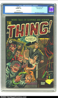 The Thing! #8 White Mountain pedigree (Charlton, 1953) CGC VF/NM 9.0 Off-white pages. Charlton would be one of the few c...