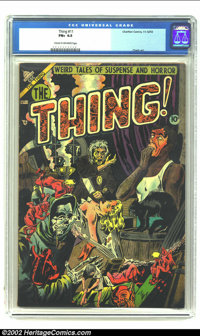 The Thing! #11 (Charlton, 1953) CGC FN+ 6.5 Cream to off-white pages. People sometimes forget just how strong Charlton w...