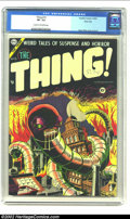 Golden Age (1938-1955):Horror, The Thing! #15 River City pedigree (Charlton, 1954) CGC VF- 7.5 Cream to off-white pages. If you thought Steve Ditko's caree...