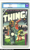 Golden Age (1938-1955):Horror, The Thing! #16 (Charlton, 1954) CGC NM+ 9.6 Off-white pages.Charlton, known for printing just about anything, on cheap pape...
