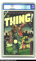 Golden Age (1938-1955):Horror, The Thing! #16 River City pedigree (Charlton, 1954) CGC VF/NM 9.0Off-white pages. Dick ayers provides art in this issue. Th...