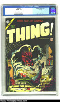 Golden Age (1938-1955):Horror, The Thing! #17 River City pedigree (Charlton, 1954) CGC VF/NM 9.0Off-white to white pages. Steve Ditko wasn't the comic boo...