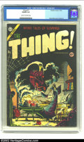 Golden Age (1938-1955):Horror, The Thing! #17 (Charlton, 1954) CGC VG/FN 5.0 Cream to off-whitepages. Here is yet another great example of Charlton horror...
