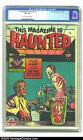 Golden Age (1938-1955):Horror, This Magazine Is Haunted #7 (Fawcett, 1952) CGC VF+ 8.5 Cream to off-white pages. The proliferation of horror titles coupled...
