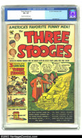 Golden Age (1938-1955):Humor, Three Stooges #1 (St. John, 1953) CGC VF+ 8.5 Cream to off-white pages. Only one other copy of this issue has been reviewed ...