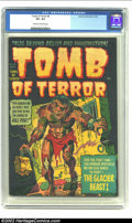 Golden Age (1938-1955):Horror, Tomb of Terror #4 (Harvey, 1952) CGC VF+ 8.5 Cream to off-whitepages. This killer cover features a monster breaking out of ...