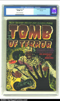 Golden Age (1938-1955):Horror, Tomb of Terror #5 File Copy (Harvey, 1952) CGC VF/NM 9.0 Cream tooff-white pages. The mummy rises from the dead to join his...