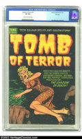 Golden Age (1938-1955):Horror, Tomb of Terror #7 File Copy (Harvey, 1953) CGC VF 8.0 Cream tooff-white pages. The grade is quite impressive considering th...