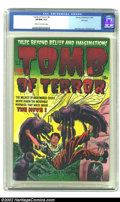 Golden Age (1938-1955):Horror, Tomb of Terror #8 File Copy (Harvey, 1953) CGC VF/NM 9.0 Cream tooff-white pages. One of our favorite Lee Elias covers grac...