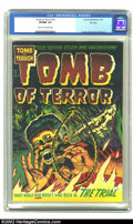 Golden Age (1938-1955):Horror, Tomb of Terror #10 File Copy (Harvey, 1953) CGC VF/NM 9.0 Cream tooff-white pages. Beautiful cover colors and gloss mark th...