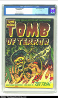 Golden Age (1938-1955):Horror, Tomb of Terror #10 File Copy (Harvey, 1953) CGC VF/NM 9.0 Cream tooff-white pages. Lee Elias draws a horrifying cover of a ...