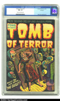 Golden Age (1938-1955):Horror, Tomb of Terror #11 File Copy (Harvey, 1953) CGC NM- 9.2 Cream tooff-white pages. Colorful, eye-catching cover by Lee Elias ...