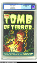 Golden Age (1938-1955):Horror, Tomb of Terror #12 File Copy (Harvey, 1953) CGC VF- 7.5 Cream tooff-white pages. Looking first at the Lee Elias cover, then...