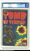 Golden Age (1938-1955):Horror, Tomb of Terror #13 Logo Variant (Harvey, 1954) CGC GD/VG 3.0 Creamto off-white pages. This issue of Tomb of Terror sports a...