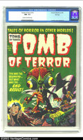 Golden Age (1938-1955):Horror, Tomb of Terror #14 Harvey File Copy (Harvey, 1954) CGC NM- 9.2Cream to off-white pages. Be afraid, be very afraid in this s...