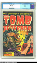 Golden Age (1938-1955):Horror, Tomb of Terror #15 File Copy (Harvey, 1954) CGC NM- 9.2 Cream tooff-white pages. This is one of the classic horror cove...