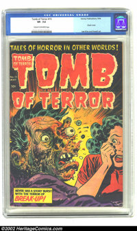 Tomb of Terror #15 (Harvey, 1954) CGC VF- 7.5 Cream to off-white pages. Gasp! What an awesome cover by Lee Elias! The Ha...