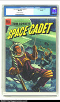 Golden Age (1938-1955):Science Fiction, Tom Corbett Space Cadet #5 Spokane pedigree (Dell, 1953) CGC NM 9.4 Off-white to white pages. This painted cover features To...