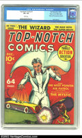 Golden Age (1938-1955):Superhero, Top-Notch Comics #1 Mile High pedigree (MLJ, 1939) CGC VF+ 8.5 White pages. This cover in late 1930s style features the firs...