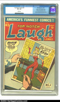 Golden Age (1938-1955):Humor, Top-Notch Comics #45 Mile High pedigree (MLJ, 1944) CGC VF+ 8.5 White pages. The last issue of one of MLJ's first comic titl...
