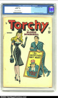 """Golden Age (1938-1955):Miscellaneous, Torchy #1 (Quality, 1949) CGC FN/VF 7.0 Cream to off-white pages. Quality's premise was, """"When in doubt, throw in a blonde b..."""