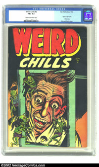 Weird Chills #2 (Key Publications, 1954) CGC FN+ 6.5 Cream to off-white pages. Bernard Baily's classic injury-to-eye cov...