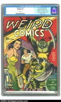Golden Age (1938-1955):Horror, Weird Comics #1 Mile High pedigree (Fox, 1940) CGC VF/NM 9.0 White pages. Most of these early Fox books are uncommon, and ju...