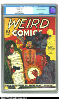 Weird Comics #2 Mile High pedigree (Fox, 1940) CGC VF/NM 9.0 Off-white pages. Edgar Church's incomparable collection giv...