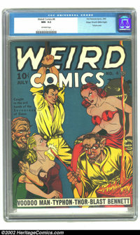Weird Comics #4 Mile High pedigree (Fox, 1940) CGC NM- 9.2 Off-white pages. The torture thing seemed to be grossing out...