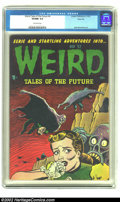 Golden Age (1938-1955):Horror, Weird Tales of the Future #4 River City pedigree (Aragon, 1952) CGCVF/NM 9.0 Off-white pages. The offbeat art of Basil Wolv...