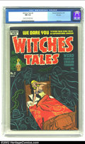 Golden Age (1938-1955):Horror, Witches Tales #2 File Copy (Harvey, 1951) CGC NM 9.4 Cream tooff-white pages. Poltergeists terrorize a lingerie-clad beauty...