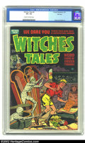 Golden Age (1938-1955):Horror, Witches Tales #4 File Copy (Harvey, 1951) CGC VF+ 8.5 Cream tooff-white pages. This brilliant copy presents as near-perfect...