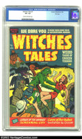 Golden Age (1938-1955):Horror, Witches Tales #7 File Copy (Harvey, 1952) CGC VF+ 8.5 Cream tooff-white pages. Let's say your experience with Harvey comics...