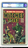 Golden Age (1938-1955):Horror, Witches Tales #8 File Copy (Harvey, 1952) CGC VF 8.0 Off-white towhite pages. Lee Elias uses tried and true props in this a...