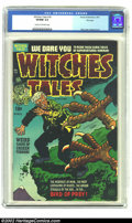 Golden Age (1938-1955):Horror, Witches Tales #18 File Copy (Harvey, 1953) CGC VF/NM 9.0 Cream tooff-white pages. From the late 1940s to the mid-1950s Lee ...