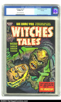 Golden Age (1938-1955):Horror, Witches Tales #21 File Copy (Harvey, 1953) CGC VF/NM 9.0 Cream tooff-white pages. Near Mint or better describes all but a v...