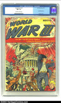 Golden Age (1938-1955):Science Fiction, World War III #1 (Ace, 1953) CGC NM- 9.2 Off-white to white pages.With an incredible apocalyptic atomic bomb cover, this is...