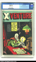 Golden Age (1938-1955):Horror, X-Venture #1 (Victory Magazines, 1947) CGC VF/NM 9.0 Cream tooff-white pages. This cool issue features the first appearance...