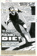 "Original Comic Art:Complete Story, Dan Adkins - Original Art for Doctor Strange #170, Complete 20-pageStory, ""To Dream... Perchance to Die!"" (Marvel, 1968). A..."