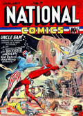 Original Comic Art:Covers, Murphy Anderson - Original Cover Recreation for National Comics #7(1996). As an homage to his hero Lou Fine, Murphy Anderso...
