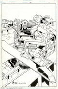 Original Comic Art:Covers, Tom Artis and Sam DeLaRosa - Original Cover Art for Judge Dredd #50(Fleetway, 1990). Judge Dredd, the foremost lawman of Me...