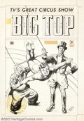 Original Comic Art:Covers, Edd Ashe - Original Cover Art for Big Top Comics #1 (Toby, 1951).This is a stunning piece of work by Edd (Eduard) Ashe, who...
