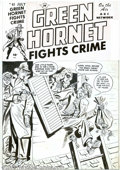 Original Comic Art:Covers, Al Avison - Original Cover Art for Green Hornet Fights Crime #40(Harvey, undated). You can be a thug, but you don't necessa...