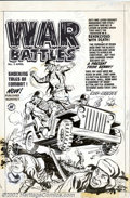 Original Comic Art:Covers, Al Avison - Original Cover Art for War Battles #2 (Harvey, 1952).This rip-roaring cover really puts the war right in your f...