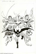 Original Comic Art:Covers, John Byrne - Original Cover Art for Legends Trade Paperback (DC, 1990s). This is the cover of the trade paperback that colle...