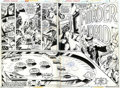 Original Comic Art:Panel Pages, John Byrne - Original Art for Marvel Team-Up #66, pages 2 and 3(Marvel, 1977). This great two-page spread features that not...