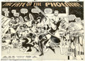 "Original Comic Art:Splash Pages, John Byrne and Terry Austin - Original Art for X-Men #137, page 2and 3, ""The Fate of the Phoenix"" (Marvel, 1980). More has ..."