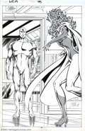 "Original Comic Art:Splash Pages, John Byrne and Mike Machlan - Original Splash Page Art for WestCoast Avengers #45, page 15, ""New Faces"" (Marvel, 1989). Joh..."